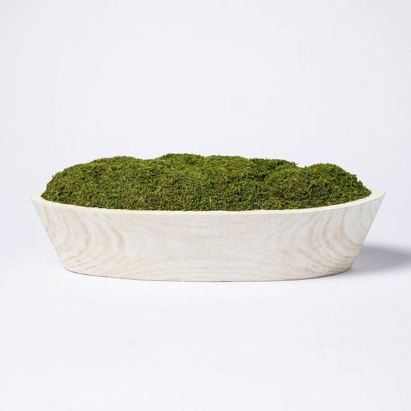 Artificial Moss Wood Plant Arrangement - Threshold